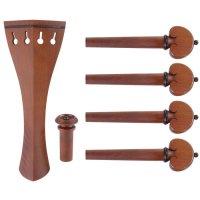 Harald Lorenz Set, Boxwood, Black Trim, 6-Piece Set, Violin 4/4, Medium
