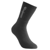 Chaussettes de sport Woolpower, logo, noires, 400 g/m², taille 45-48