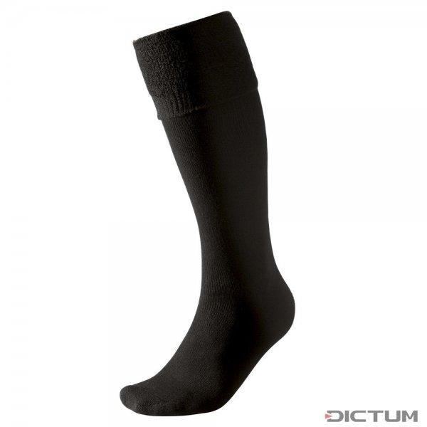 Calza al ginocchio Woolpower, nera, 400 g/m², misura 36-39
