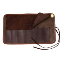 Leather Roll-up Case for Folding Knives or Straight Razors