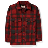 Filson Mackinaw Wool Cruiser, Red/Black Plaid, Größe XL