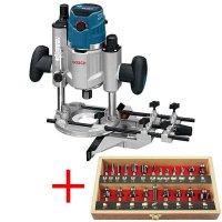 Fresatrice verticale Bosch GOF 1600 CE Professional con set di frese, 22 pz