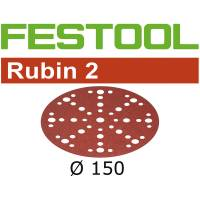 Festool Sanding Discs RUBIN 2 STF D150/48 P120 RU2/50