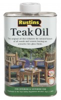 Rustins Teak Oil, Food-safe, 1 l