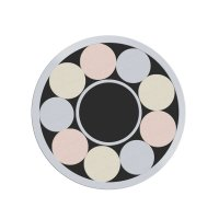 Mosaic Pin, Stainless Steel, Ø 8.0 mm, No. 8