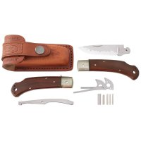 Kit de montage de couteau pliant Hiro Suminagashi, cocobolo