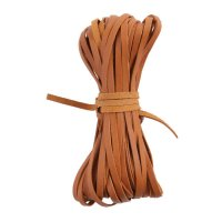 Kangaroo Braiding Laces, Flat, Saddle Tan