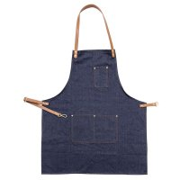 Delantal de taller, estilo denim
