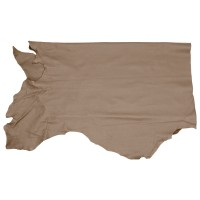 Olive-tanned Cowhide, Half Hide, Taupe, 2.4-2.6 m²