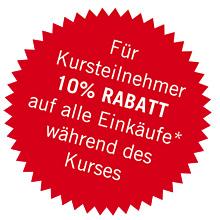 10% Rabatt für Workshopteilnehmer