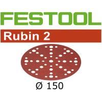 Festool Disque abrasif RUBIN 2 STF D150/48 P80 RU2/50