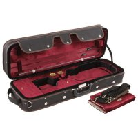 Pro-Case Oblong Case, Violin 4/4 - 3/4, Black/Black-Burgundy