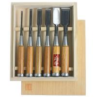 Ciseaux à bois Hattori, jeu de 6 pièces