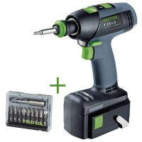 SET: Festool Perceuse-visseuse sans fil T 15+3 LI 4,2 Plus + Bit-Box