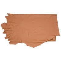 Olive-tanned Cowhide, Half Hide, Medium Brown, 2.6-2.8 m²