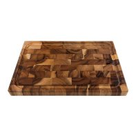 Acacia End Grain Cutting and Chopping Board, with Sap Groove