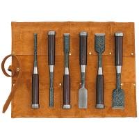 Ciseaux à bois Tasai Mokume Nomi, jeu de 6 pièces