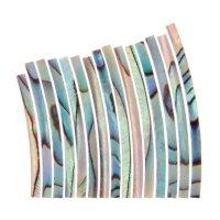 Perlmutter-Einlagen Satz, Paua geflammt, Breite 3,2 mm