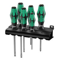 Wera Schraubendrehersatz Kraftform Plus, 6-teilig, Schlitz/PH