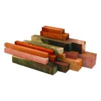 Assortiment de bois précieux équarris australiens, 5 kg
