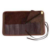 Sacoche roulable en cuir, pour couteau pliant ou rasoir droit