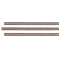 Purfling Set, Straight, Maple-Pearwood-Maple, Cello, 0.4/1.0/0.4 x 2.2 mm