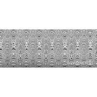 Damasteel DS93X Ladder Damascus Steel, 26 x 3.2 x 180 mm