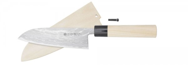 Hayashi Hocho, with Wooden Sheath, Santoku, All-purpose Knife
