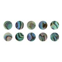 Boutons de nacre Paua, 10 pièces, Ø 2 mm