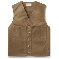 Filson Oil Tin Cloth Vest, Dark Tan, taille S