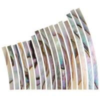 Perlmutter-Einlagen Satz, Iris geflammt, Breite 1,6 mm
