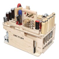 DICTUM Tool Carrier »Cabinet making, Interior Work«, Equipped, 43-Piece Set