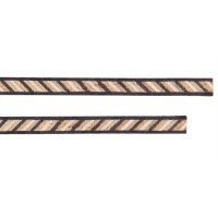 Bandes d'incrustation, noir-mosaïque-noir, jeu 2 pièces, largeur 1,8 mm