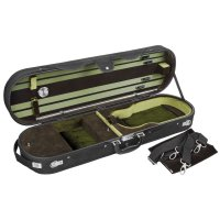 Milano Oblong Case, Violin 4/4, Black/Dark Green