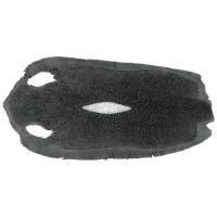 Perlrochenleder, Mittelschliff, schwarz, extra groß