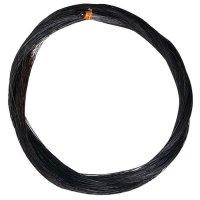 Mèche noire pour archet, qualité *, 72 cm, 10 g