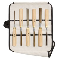 DICTUM Carving Tools, 6-Piece Set, in Cotton Tool  Roll