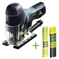 SET: Festool Pendulum Jigsaw CARVEX PS 420 EBQ-Plus + 10 Jigsaw Blades