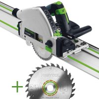 SET: Festool Plunge-cut Saw TS 55 REBQ-Plus-FS + extra Universal Saw Blade W28