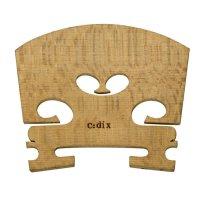 c:dix Nr. 12 Steg, gerade, roh, härtebehandelt, Violin 4/4, 41 mm