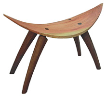 Stool with curved legs