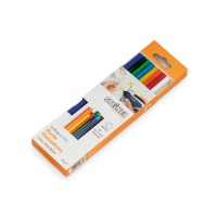 Glue Sticks Coloured, 7 mm, mixed, 16-Piece Set