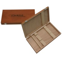 Wooden Case, for 2 Knives and 1 Sharpening Stone