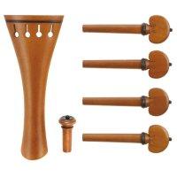 Jeu c:dix Classic, buis, ornements noirs, 6 pièces, violon 4/4, medium