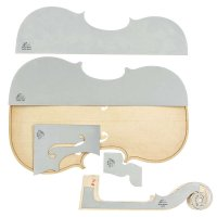 Herdim Outline Templates, 5-Piece Set, Violin, Strad Hellier 1679