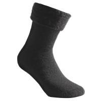 Woolpower Socken, schwarz, 600 g/m², Größe 36-39
