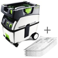 Festool Mobile Dust-extractor CTL MIDI, 15 l Bin Capacity + 5 SELFCLEAN Filter