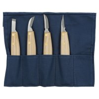 Japanese Chip Carving Knives, 4-Piece Set