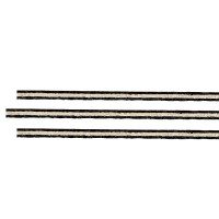 Purfling Set, Straight, Fiber-Maple-Fiber, Bass, 0.5/1.4/0.5 x 2.4 mm