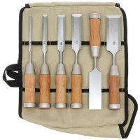 Hybrid Chisels with Long Blades, 6-Piece Set